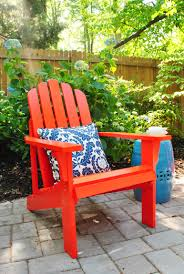 Used Adirondack Chairs Adding Bright Red Adirondack Chairs To Our Side Patio Young