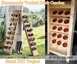 diy vertical herb garden herb garden stand homemade vertical herb garden stand diy project
