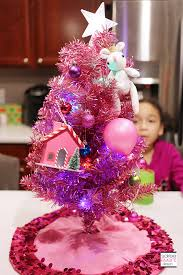 small pink christmas tree trend alert mini christmas trees our new family tradition