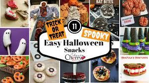 11 easy halloween snacks cherrycherrybeauty