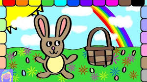 learn how to draw and color easter bunny with digital coloring