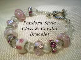pandora style glass bead and crystal bracelet video tutorial youtube
