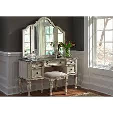 Turquoise Vanity Table Antique White Traditional 3 Piece Vanity Set Magnolia Manor Rc