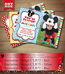 50 best mickey mouse chevron birthday invitations u0026 party