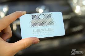 lexus card metal concierge card for lexus on behance