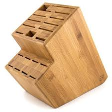 kitchen knives holder megalowmart 18 slot bamboo wood kitchen knife block