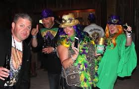 mardi gras king and costumes a at the barefoot mardi gras king corpus