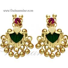kerala earrings green kerala earring palakka design ear stud traditional indian