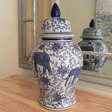 elephant vase ceramic ceramics u0026 glass ginger jars temple jars vases u2013 cowshed