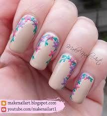make nail art spring flowers nail art design tutorial