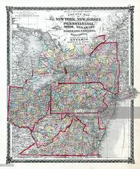 New Jersey New York Map by Illinois 1876 County Map New York New Jersey Pennsylvania Ohio