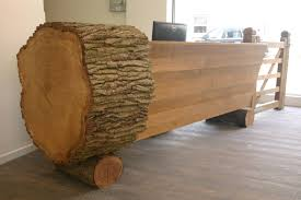 Contemporary Reception Desk Oak Log Reception Desk U2013 Damian Price Furniture And Joinery