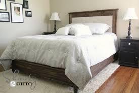 stylish wood and fabric headboard ana white chestwick upholstered