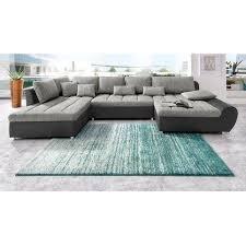 les 3 suisses canapé canapé panoramique en imitation cuir tissu méridienne fixe