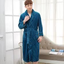 robe de chambre homme chaude nouveau mode hommes chaud peignoir de soie doux