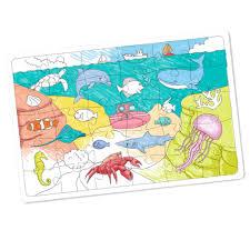 coloriages sur le monde de la mer tête à modeler