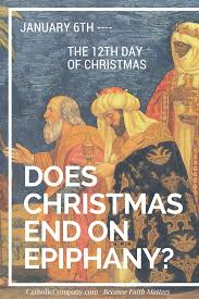 does christmas end on epiphany