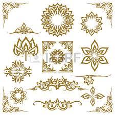 thai design thai ornament border patterns with vector thai floral motifs