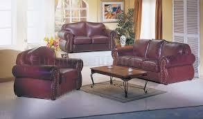 burgundy leather living room set
