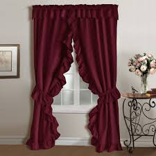 Shari Lace Curtains Penneys Priscilla Curtains Priscilla Ruffled Curtains Red