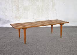 Slat Bench Select Modern Mid Century Modern Slat Bench