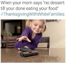 thanksgiving with white family
