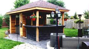 Rustic Gazebo Ideas by Outdoor Bar Ideas Diy Or Buy An Spaces Backyard Features
