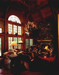 rustic log home interiorcomfortable log cabin interior stone walls