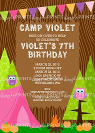 camping owl printable invitation dimple prints shop
