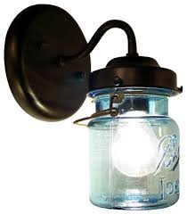 Vintage Wall Sconce Lighting Vintage Blue Mason Jar Sconce Light Traditional Wall Sconces