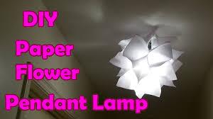 Flower Pendant Light Diy Paper Flower Pendant Lamp Shade 종이꽃 전등갓 만들기 한글자막