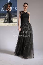 black lace and tulle asymmetrical shoulder strap selena gomez