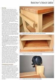 butcher block table plans table designs