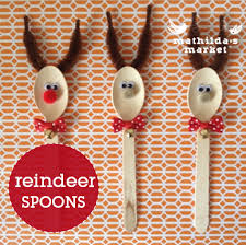 Kids Reindeer Crafts - reindeer spoons kids craft christmas craft diy christmas crafts