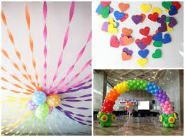 Birthday Home Decoration Interior Design Rainbow Themed Birthday Party Decorations Nice