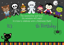 Free Printables For Halloween by Free Printable About Halloween Birthday Party Invitations