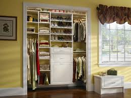 various themes for closet design ideas with combination storage
