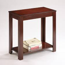 Chair Side Tables With Storage Crown Chairside Table With Inlay Shelf