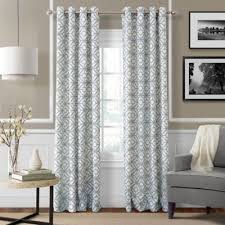Blue Grey Curtains Buy 95 Inch Window Curtain Panel In Blue From Bed Bath Beyond