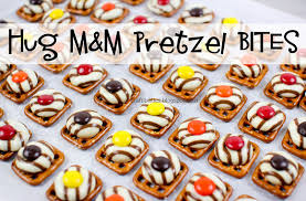 hug m m pretzel bites and easy thanksgiving treat