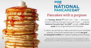 Get Free Pancakes At Participating Get A Free Stack Of Flap Jacks Today Only At Ihop To Celebrate