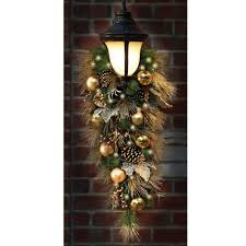 the st john u0027s wood golden cordless holiday trim teardrop sconce
