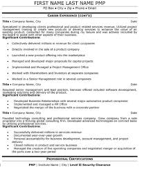 Resume Security Clearance Example by Senior Manager Resume Sample U0026 Template