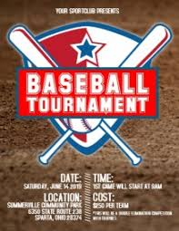 baseball flyer us letter templates postermywall