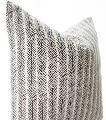 Linen Covers Gray Print Pillows White Walls Grey Indian Block Print Textile Pillow Cover Ethnic Handmade Black