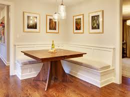 built in dining table mercer island dining table w built in benches traditional