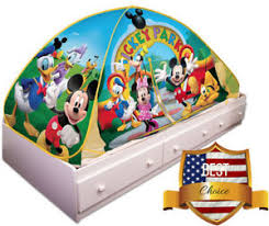 Privacy Pop Up Bed Tent Playhut Mickey Mouse Twin Size Bed Tent Kids Toddler Pop Up