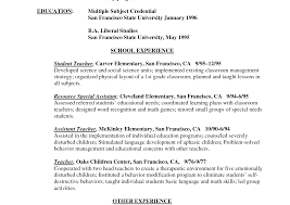 resumes exles for teachers firstr resume exles of resumes template no experience 1st
