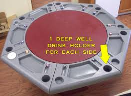 Table Cup Holder 7 Sided Poker Table Features Of Lucky 7 Poker Table Game Tables