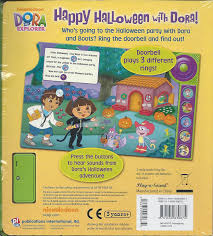 halloween buttons amazon com happy halloween with dora explorer play a sound book